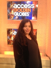 At Access Hollywood covering the Golden Globe Awards