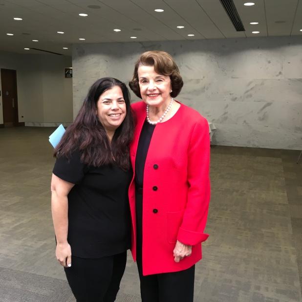 With Senator Feinstein